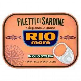 Rio mare Filet sardiniek v olivovom oleji 105 g - rybacia pomazanka - rybacia pomazánka zo sardiniek - rybacia pomazanka sardinky - sardinky v olivovém oleji - baltické sardinky