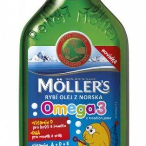 MOLLER´S Omega 3 RYBÍ OLEJ Ovocná aróma z pečene tresiek