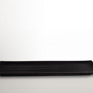 Obdĺžnikový tanier na sushi čierny 39