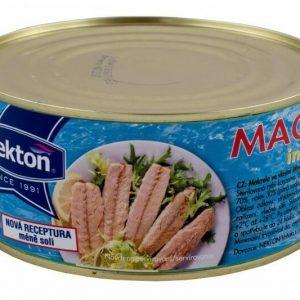 NEKTON Makrela vo vlastnej šťave 1000 g - rybacia pomazanka - rybacia nátierka - filety sledove - makrela v konzerve - makrely - slede - sleď