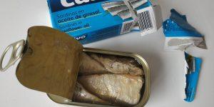 sardinky v slnečnicovom oleji, Calvo Sardinky v slnečnicovom oleji, sardinky v oleji, obsah konzervy, ryby v konzerve, sardinky v konzerve