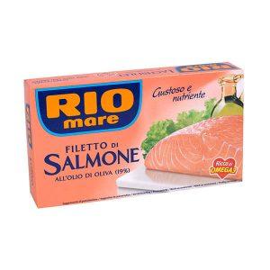 Rio mare Filety z lososa v olivovom oleji (19%) 150 g  - rybacia pomazanka - rybacia pomazánka zlososa - lososová pasta - losos v konzerve - lososová pasta - losos konzerva