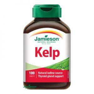 Jamieson Kelp morské riasy 100 tbl -kelp morske riasy - kelp morske riasy skusenosti - morske riasy predaj - morské riasy cena - morske riasy v prasku - štítna žľaza - činnosť štítnej žľazy - hormóny štítnej žľazy