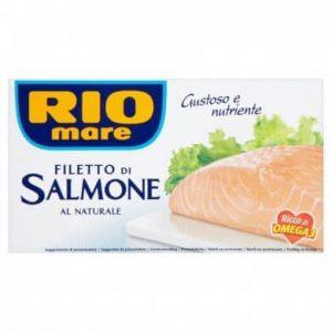 Rio mare Filety z lososa vo vlastnej šťave 150 g  - rybacia pomazanka - rybacia pomazánka zlososa - lososová pasta - losos v konzerve - lososová pasta - losos konzerva