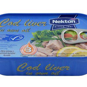 NEKTON Tresčia pečeň vo vlastnom oleji 115 g - rybacia pomazanka - tuniaková pomazánka - tuniakova pomazanka -  treščia pečeň