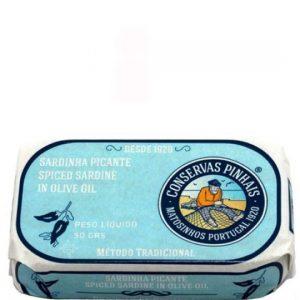 Mini sardinky v olivovom oleji-pikantné PINHAIS 90g - rybacia pomazanka - rybacia pomazánka zo sardiniek - rybacia pomazanka sardinky - sardinky v olivovém oleji - baltické sardinky
